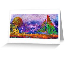 Sailboats at Sunset - Watercolor Seascape Greeting Card