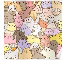Cats puzzle Poster