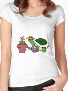 Gardener Turtle Women's Fitted Scoop T-Shirt