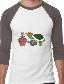 Gardener Turtle Men's Baseball ¾ T-Shirt