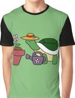 Gardener Turtle Graphic T-Shirt