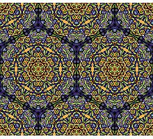 Psychedelic jungle kaleidoscope ornament 10 Photographic Print