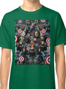 Bucky Barnes and Steve Rogers Collage Classic T-Shirt