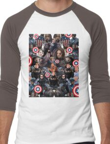 Bucky Barnes and Steve Rogers Collage Men's Baseball ¾ T-Shirt