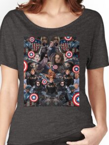 Bucky Barnes and Steve Rogers Collage Women's Relaxed Fit T-Shirt