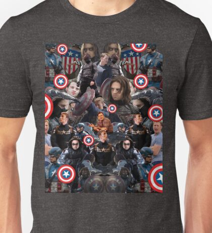 Bucky Barnes and Steve Rogers Collage Unisex T-Shirt