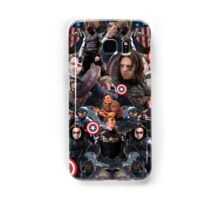 Bucky Barnes and Steve Rogers Collage Samsung Galaxy Case/Skin