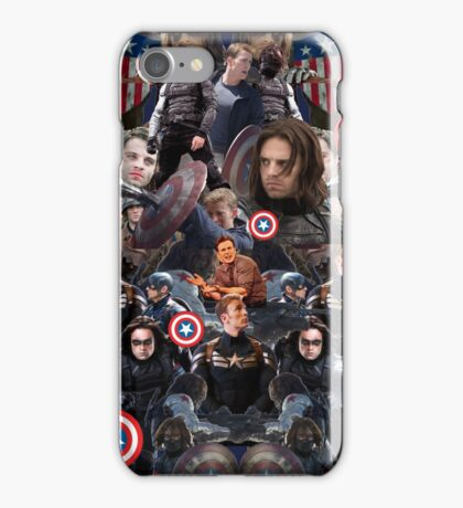 Bucky Barnes and Steve Rogers Collage iPhone Case/Skin