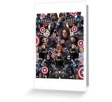 Bucky Barnes and Steve Rogers Collage Greeting Card