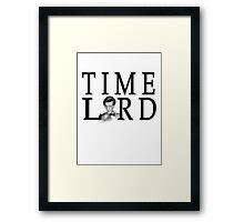 Matt Smith Time Lord Framed Print