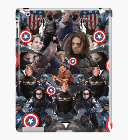 Bucky Barnes and Steve Rogers Collage iPad Case/Skin