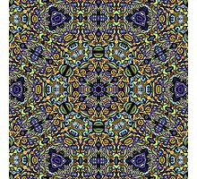 Psychedelic jungle kaleidoscope ornament 11 Photographic Print