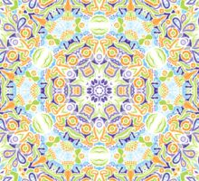 Psychedelic jungle kaleidoscope ornament 11 Sticker