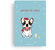 Frenchie Waiting for Santa  Canvas Print