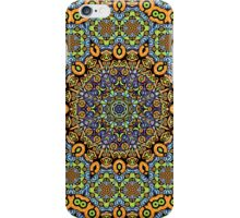 Psychedelic jungle kaleidoscope ornament 12 iPhone Case/Skin
