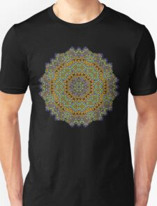 Psychedelic jungle kaleidoscope ornament 12 T-Shirt