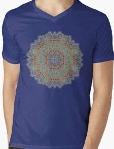 Psychedelic jungle kaleidoscope ornament 12 Mens V-Neck T-Shirt