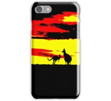 Kangaroos silhouettes at Sunset iPhone Case/Skin