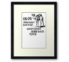 Hump Day Camel Funny T-shirt Guess What Day It Is Funny Tee Shirt Framed Print