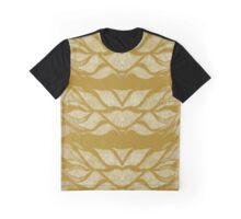 Saffron Leafy Lines Graphic T-Shirt