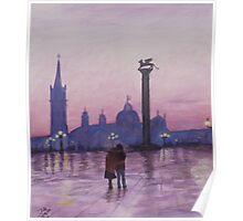 Walk in Italy in the rain Poster