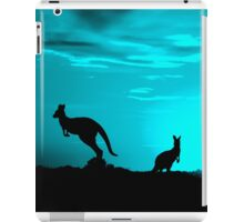 Kangaroos silhouettes at Sunset iPad Case/Skin