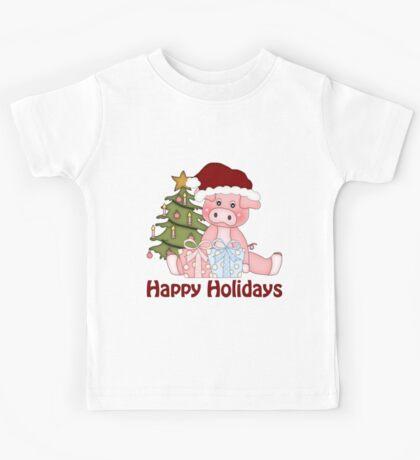 Christmas Piggy Kids Tee