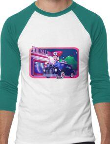 Rocket Bird Station (NIGHT) Men's Baseball ¾ T-Shirt
