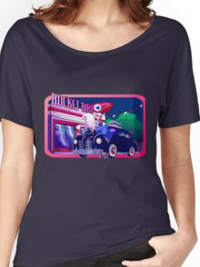 Rocket Bird Station (NIGHT) Women's Relaxed Fit T-Shirt
