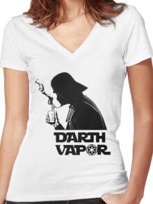 Darth vapor Women's Fitted V-Neck T-Shirt