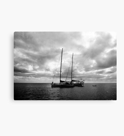 Camped up for the night Canvas Print