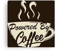 Powered By Coffee (Light Version)  Canvas Print