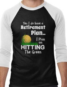 Retired Worker, Full Time Golfer Men's Baseball ¾ T-Shirt