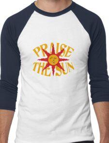 Praise The Sun (8) Men's Baseball ¾ T-Shirt