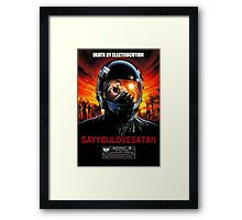 Say You Love Satan 80s Horror Podcast - Nightmare Beach  Framed Print