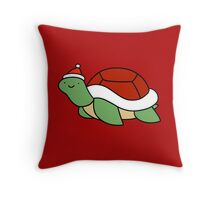 Santa Hat Turtle Throw Pillow