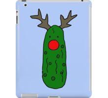Funny Cool Christmas Pickle Reindeer iPad Case/Skin
