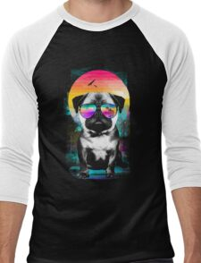 Summer Pug Men's Baseball ¾ T-Shirt