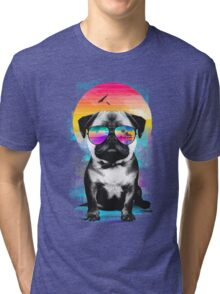 Summer Pug Tri-blend T-Shirt