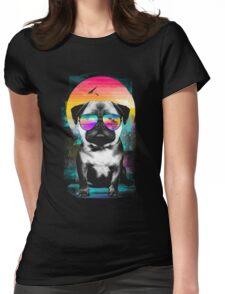 Summer Pug Womens Fitted T-Shirt