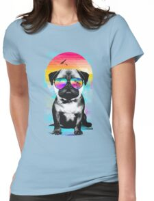 Summer Pug Womens Fitted T-Shirt