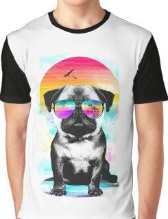 Summer Pug Graphic T-Shirt