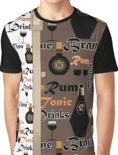 Drinks Brandy. Rum .  Graphic T-Shirt