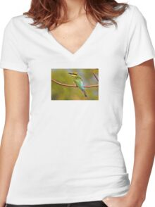 Rainbow Bee-eater ~ The Spectrum Women's Fitted V-Neck T-Shirt