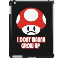 I Don't Wanna Grow Up T-Shirt Funny New Olds School TEE College Humor Gamer Nerd iPad Case/Skin