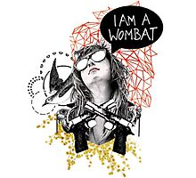 I Am A Wombat Photographic Print