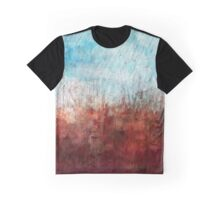 Blue and Red Abstract Prairie Abstract Graphic T-Shirt