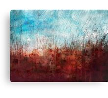 Blue and Red Abstract Prairie Abstract Canvas Print