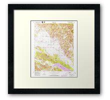 USGS TOPO Map California CA Williams Hill 301386 1949 24000 geo Framed Print