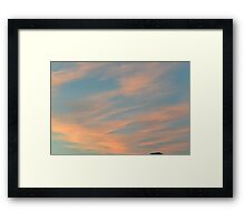 Moody clouds  Framed Print